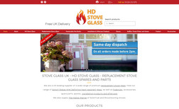 HD Stove Glass Created eCommerce website for HD Stove Glass and o...